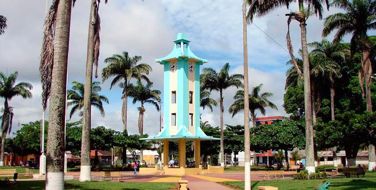 Antigua plaza de armas d Puerto Maldonado