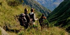 Trekking fuera de las Montañas