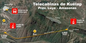 Mapa - Teleférico de Kuélap