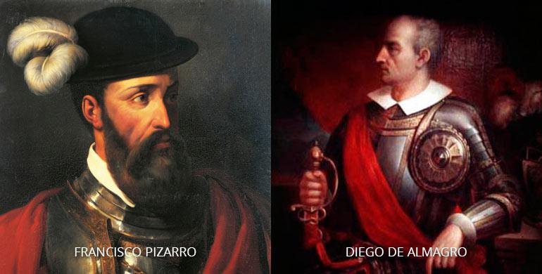 Luchas de los conquistadores Francisco Pizarro y Diego de Almagro