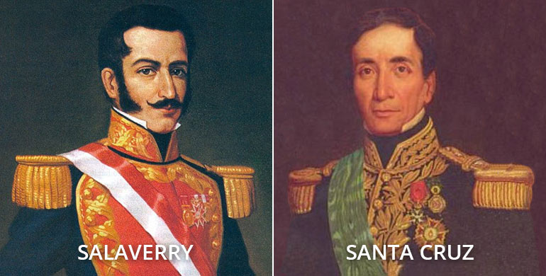 Guerra civil peruana de 1835-1836 Salaverry y Santa Cruz