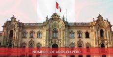 Lista de Nombres de Años en Perú