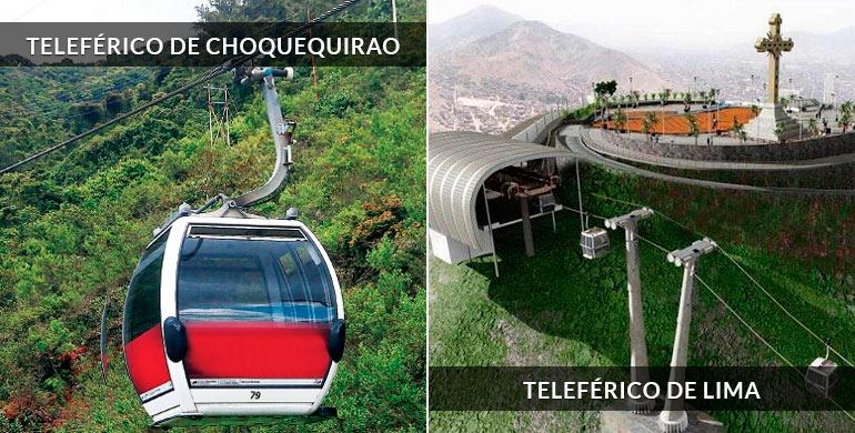 Teleféricos en Choquequirao y Lima