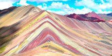 Vinicunca (Montaña Arcoíris) segundo lugar turístico más visitado del Perú