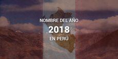 Nombre del año 2018 en Perú «Año del Diálogo y la Reconciliación Nacional»
