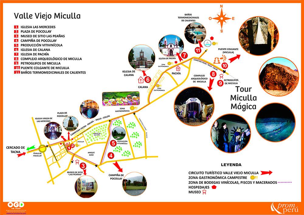 Mapa: Corredor Turístico Valle Viejo Miculla