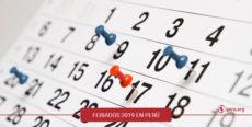 Calendario de feriados 2019 en Perú