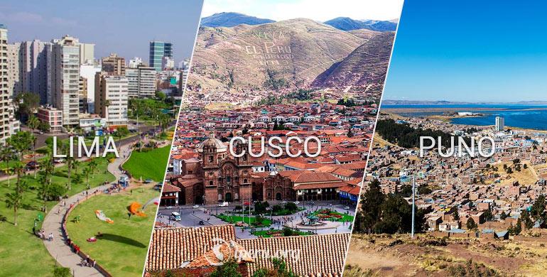 Lima, Cusco & Puno: 3 ciudades turísticas del Perú
