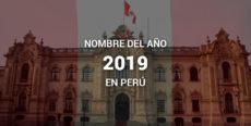 Nombre Oficial: «Año de la lucha contra la corrupción y la impunidad», nombre del año 2019 en Perú