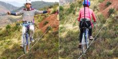 Skybike en Cusco (bicicletas voladoras) deporte de aventura extremo!