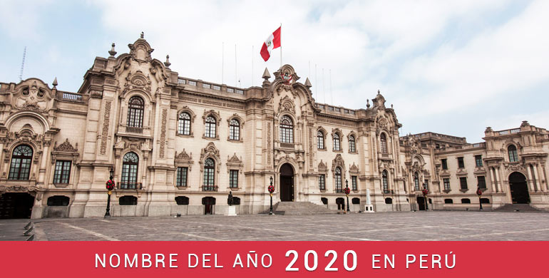Nombre del año 2020 en Perú