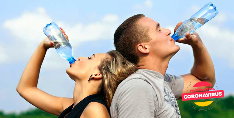 Tratamiento con Agua para combatir el coronavirus Covid-19